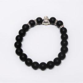 bracelet homme en agate noir